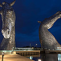 Kelpies At Night by Tommy Dickson