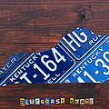 Kentucky License Plate Map The Bluegrass State by Design Turnpike