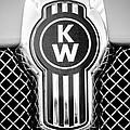 Kenworth Truck Emblem -1196bw by Jill Reger