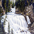 Kepler Cascades Yellowstone National Park by NPS Photo Frank J Haynes