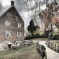 Kerr Grist Mill Stormy Skies Panorama by Adam Jewell