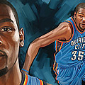 Kevin Durant Artwork by Sheraz A