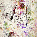 Kevin Durant In Color by Aged Pixel