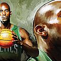 Kevin Garnett Artwork 1 by Sheraz A