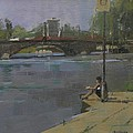 Kew Bridge, 2009 Oil On Canvas by Pat Maclaurin