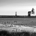 Kewaunee Lighthouse In Bandw by Bill Pevlor