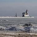 Kewaunee Lighthouse In Winter by Nikki Vig