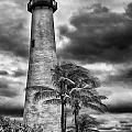Key Biscayne Fl Lighthouse Black And White Img 7167 by Greg Kluempers