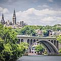 Key Bridge And Georgetown University by Bradley Clay