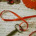 Key On Red Ribbon by Garry Gay
