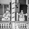 Key West Christmas Decorations 2 - Black And White by Ian Monk
