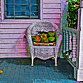 Key West Coconuts - Colorful House Porch by Rebecca Korpita