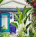 Key West Cottage Watercolor by Michelle Wiarda