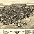Key West Florida Map 1884 by Daniel Hagerman