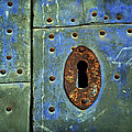 Keyhole On A Blue And Green Door by RicardMN Photography