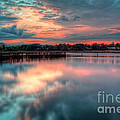 Keyport Nj Sunset Reflections by Michael Ver Sprill