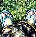 Khaki Pants And Flip Flops by Shana Rowe Jackson