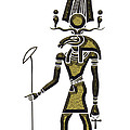Khensu - God Of Ancient Egypt by Michal Boubin
