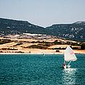 Kid Sailing On A Lake by Weston Westmoreland