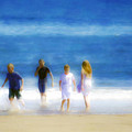 Kids At The Beach by Hal Halli