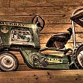 Kids Toy Pedal Tractor On Shelf by Dan Quam