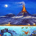 Kilauea Volcano Hawaii by Jerome Stumphauzer