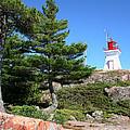 Killarney Lighthouse On The Rocks  by Michael David James