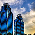King And Queen Towers - Atlanta by Mark E Tisdale