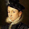 King Charles Ix Of France by Francois Clouet