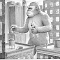 King Kong Stands In A Large City by Harry Bliss