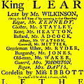 King Lear Playbill by Charlie Ross