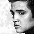 King Of Rock Elvis Presley Black And White by Georgi Dimitrov