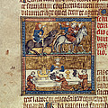 King Riding And At Table by British Library
