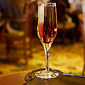 Kir Royale In A Champagne Glass by Louise Heusinkveld