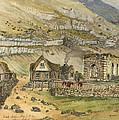 Kirk G Boe Inn And Ruins Faroe Island Circa 1862 by Aged Pixel