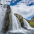 Kirkjufellsfoss Waterfalls, Church by Panoramic Images