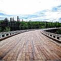 Kiskatinaw Curved Bridge by Roxy Hurtubise