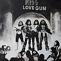 Kiss Drawing by Tony Orcutt
