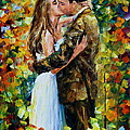 Kiss In The Woods by Leonid Afremov