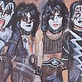 Kiss Rock Band by Gerald Rader