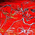 Kissing Couple by Ed Weidman