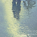 Kissing Couple With Palm Reflection by Cindy Lee Longhini