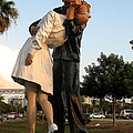 Kissing Sailor At Dusk - The Kiss by Christiane Schulze Art And Photography