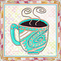 Kitchen Cuisine Hot Cuppa Aqua By Romi And Megan by Megan Duncanson