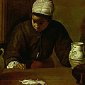Kitchen Maid With The Supper At Emmaus, C.1618 Oil On Canvas by Diego Rodriguez de Silva y Velazquez