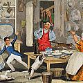 Kitchen Scene by Henry Thomas Alken