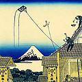 Kite Flying Over Mount Fuji by Mountain Dreams