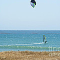 Kite Surfing And Wind Surfing Central Coast San Simeon California by Artist and Photographer Laura Wrede
