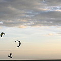 Kite Surfing On Sanibel  by Christiane Schulze Art And Photography