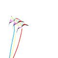 Kites On White - 1 by Rob Huntley